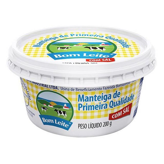Manteiga Bom Leite Com Sal 200g