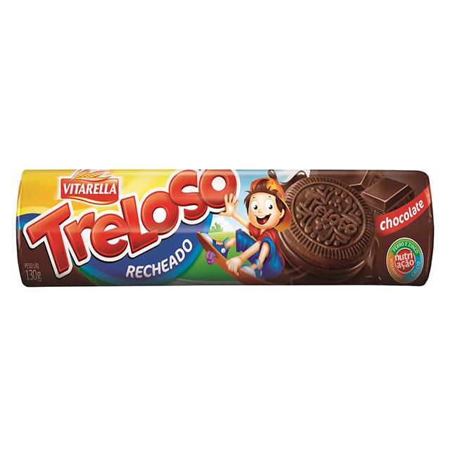 BISCOITO RECHEADO VITARELLA TRELOSO CHOCOLATE 130G
