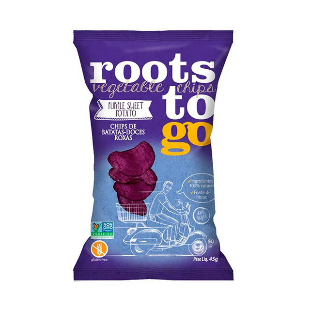 CHIPS ROOTS TO GO PURPLE SWEET 45G