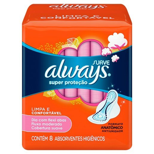 ABSORV ALWAYS BASICO SUAVE C/ABAS 8N