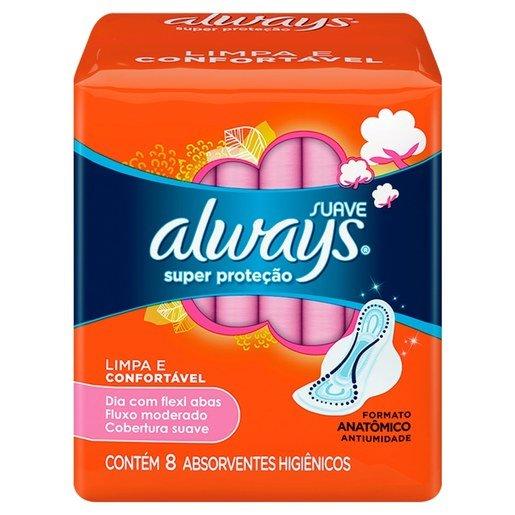 ABSORV ALWAYS BASICO SUAVE C/ABAS 8N