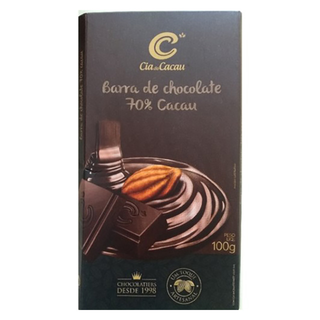 CHOCOLATE CIA DO CACAU 70% 100G