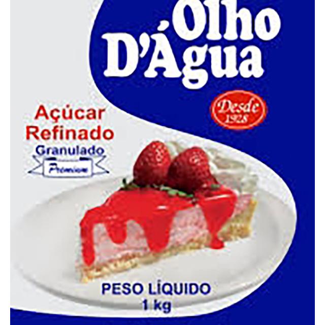 ACUCAR REFINADO OLHO DAGUA 1KG