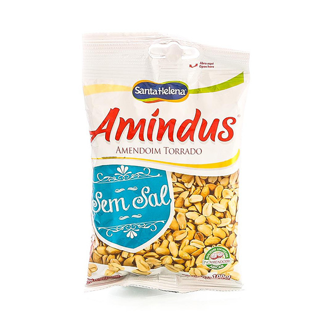 AMENDOIM AMINDUS S/SAL 100G