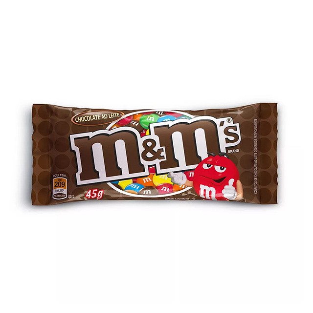 CHOCOLATE M&MS AO LEITE 45G