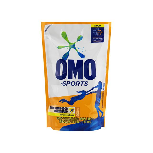 Detergente Líquido Omo Sports 900ml