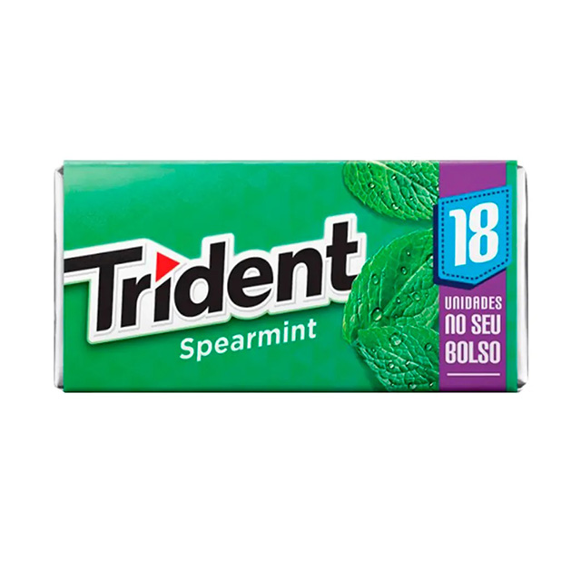 CHICLETE TRIDENT SPEARMINT 30,6G