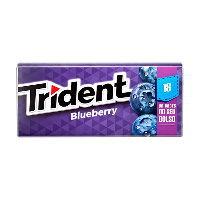 CHICLETE TRIDENT BLUEBERRY 30,6G