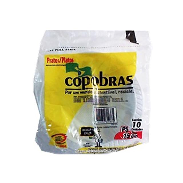 PRATO DESC COPOBRAS FUNDO 15CM C/10