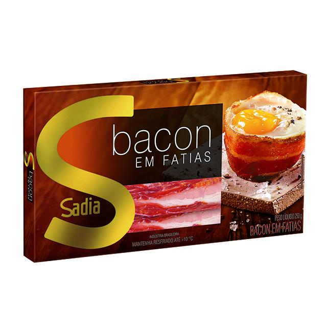 Bacon Fatiado Defumado Sadia 250g