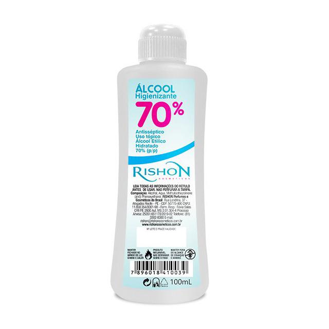 ALCOOL 70% RISHON HIGIENIZANTE 100ML