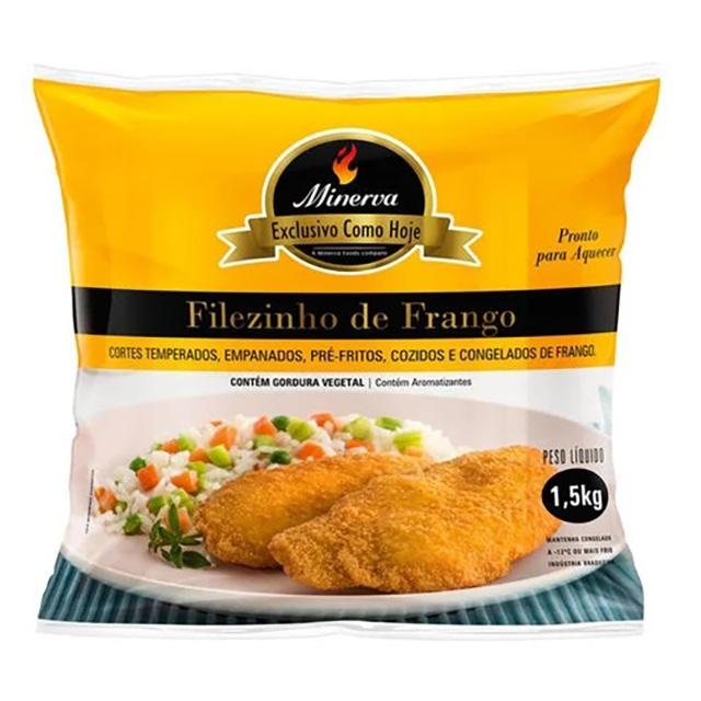 FILEZINHO DE FRANGO EMPANADO CONG. MINERVA 1,5KG