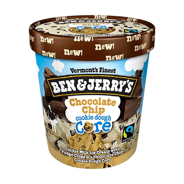 SORV BEN JERRYS CHOCOLATE DOUGH CORE 458ML