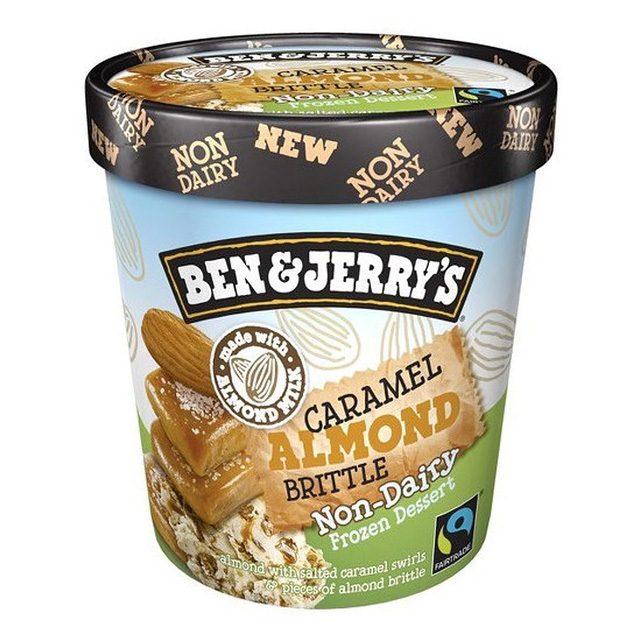 SORVETE VEGANO BEN JERRYS CARAMEL ALMOND BRITTLE 458ML