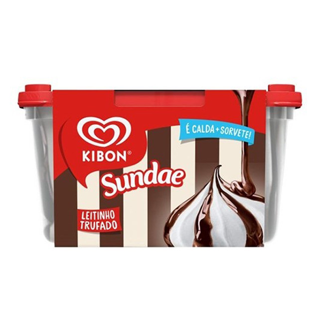 SORVETE KIBON SUNDAE DE LEITE TRUFADO 1,4L
