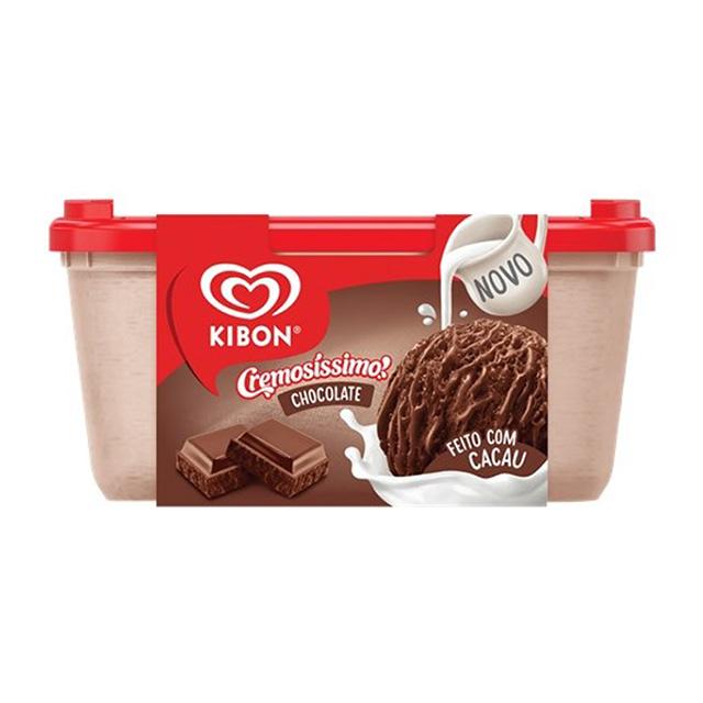 SORVETE KIBON CREMISÍSSIMO CHOCOLATE 1,5L