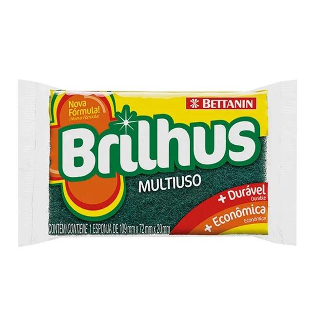 ESPONJA BRILHUS MULTIUSO  C/1